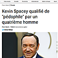 Hollywood: kevin spacey accusé de pédophilie, à qui le tour?