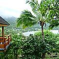 Vue sur la baie de Taiohae - Nuku Hiva aux Marquises