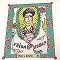 DIY : Cadre Déco Fleuri à l'effigie de <b>Frida</b> <b>Kahlo</b>..
