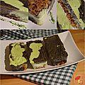 Cheese-cake marbré wasabi et sésame noir