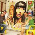 fresque déco pour boutique avec deug, petropolis, rio