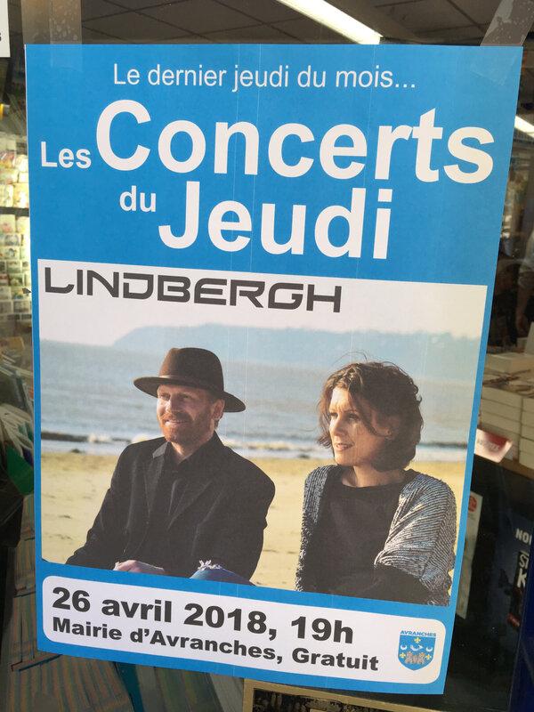 Avranches-Les Concerts du Jeudi-Lindbergh-avril-2018