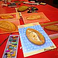 Petits pains aux pastels secs