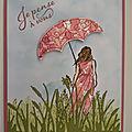 Carte <b>Beautiful</b> moment et ombrelle