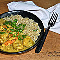 Curry d'haricots blancs à la <b>banane</b> <b>plantain</b>