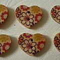 Bouton coeur n°2 2€ le sachet
