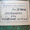 impromptu pour saxophone