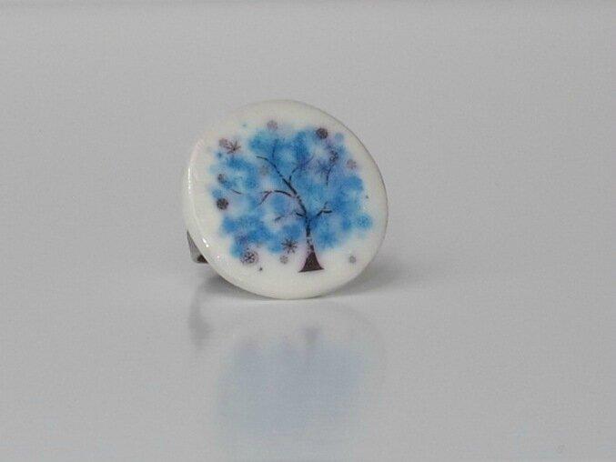 bague arbre bleu