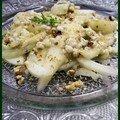 Salade de fenouil aux poires et au gorgonzola