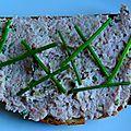 Tartine rillettes de jambon blanc aux cornichons