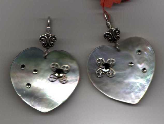 boucles oreilles coeur argent