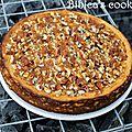 Cheesecake aux noix de pécan et caramel