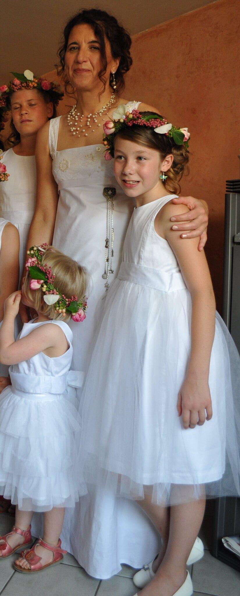 Mariage : détails des broderies de ma robe de mariée portée