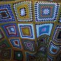 Plaids vintage au crochet ou en laine tricotée
