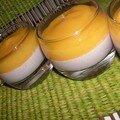 La panna cotta : vanille-mangue