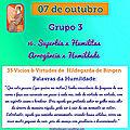 MENSAGEM DO DIA 07 DE OUTUBRO: Grupo 3 - Vícios & Virtudes