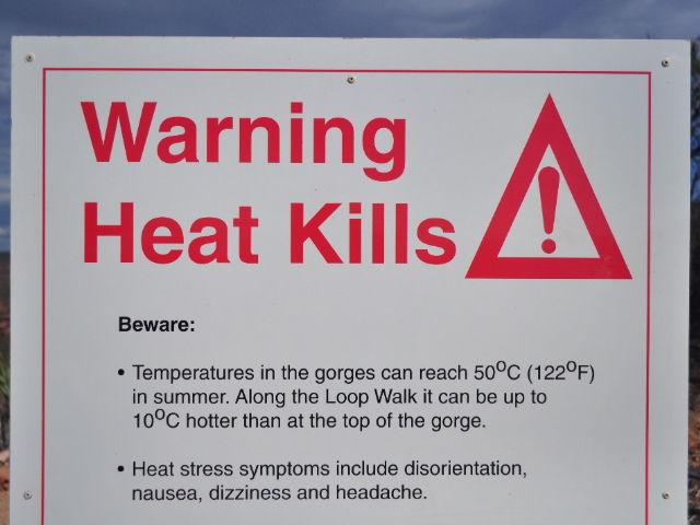 Heat kills...