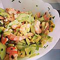 Salade avocat crevette concombre