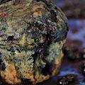 Muffins aux myrtilles.