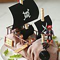 - pirates, à l'attaque !!! ou gâteau d'anniversaire pour petit garçon de 7 ans -