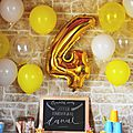 {4 ans} birthday party #1!