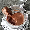 Mousse au chocolat et pois chiche aux 2 ingrédients