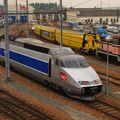 TGV n°70, la demie-rame de réserve TGV Postal, Villeneuve
