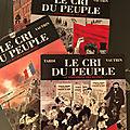 Le cri du peuple, roman graphique de Jacques Tardi, d'après Jean Vautrin