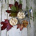 Verrine aux poires, crème mascarpone, crumble aux noix