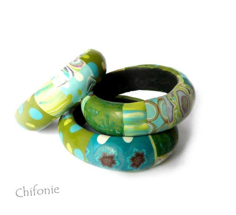 bracelets vert turquoise 1