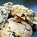 Cookies noisettes/pépites de chocolat noir