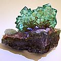 Fluorite on quartz / riemvasmaak, republic of south africa