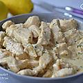 Émincé de poulet à la sauce citron