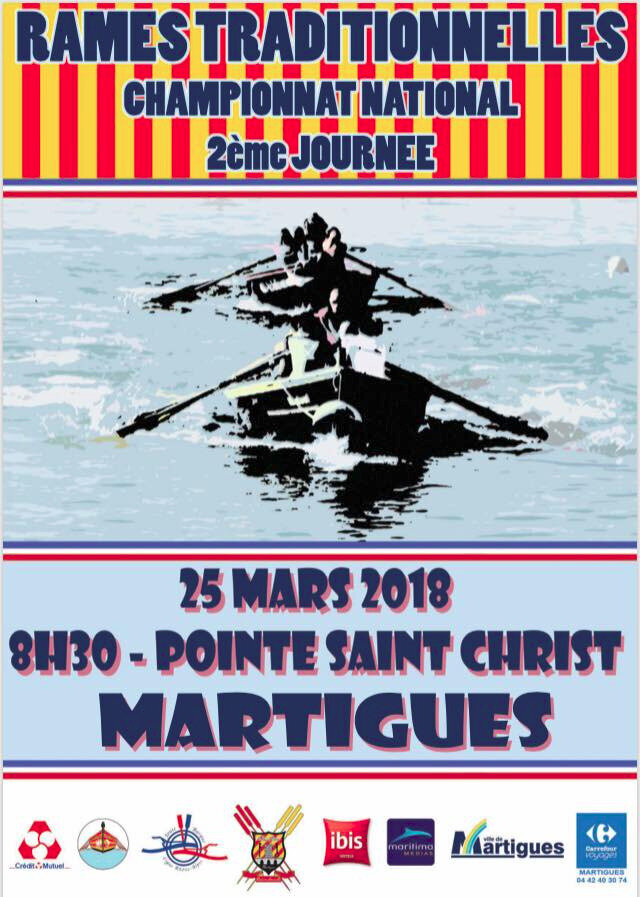 RAME TRADITIONNELLE - CONVOCATION Pour le 24 Mars 2018 - Championat National Martigues + Tirage