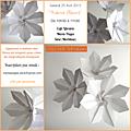 Atelier origami : thème fleurs