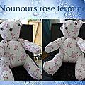 Nounours rose