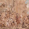 <b>Jacob</b> <b>Jordaens</b> (1593 - 1678), Le Christ chassant les marchands du Temple