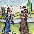 Saint François et Sainte Claire d'Assise