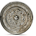 A silvered bronze mirror, Tang dynasty (AD 618-907)