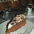 Gateau meringue poire chocolat
