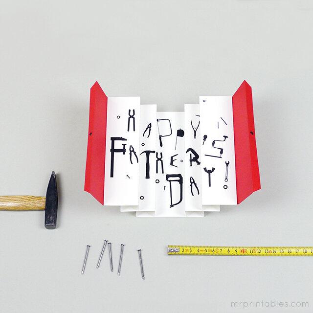 F te des p res la carte pop up bo te outils pour les - Carte fete des peres a imprimer ...