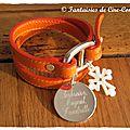 Belle Ile orange médaille argent 27 mm 5 prénoms-1