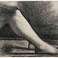 Nationalmuseum in Sweden acquires a crayon study by Georges Seurat