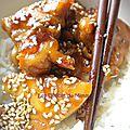 Poulet au caramel et au sésame
