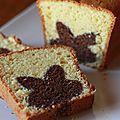 - le cake avec un lapin nutella à l'intérieur -