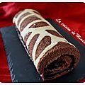 Biscuit roulé au chocolat... décor girafe !