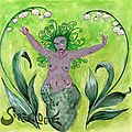 Sirène aux muguets du premier mai - <b>Mermaid</b> with lily of the valley - Mermay 01