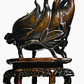 A large bronze '<b>Finger</b> <b>citron</b>' incense burner, 17th-18th century