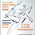Affiche championnats de france slalom descente 1972 à bourg st maurice