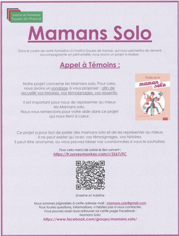 Affiche Mamans solo